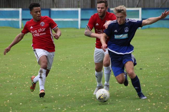Lewis Hall in action for Vale against Gala. Photo: Debbi Ritchie