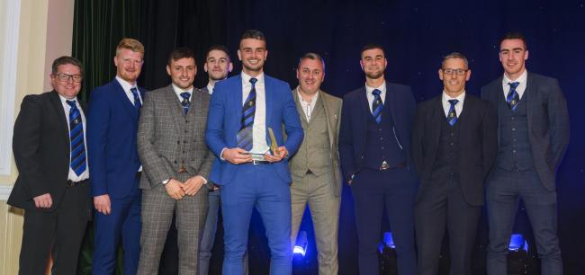 Hawick Waverley collecting the Team of the Year trophy. Photo: Phil Wilkinson