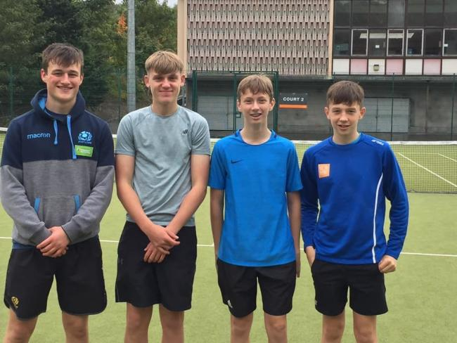 Calum Folan, Luke Townsend (captain), Fraser Rout and Alexander Hart of St Boswells lost the shoot-out with Hawick.