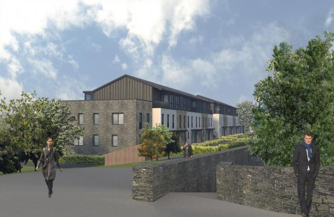 An artist's impression of the new development at Tweedbridge Court in Peebles.