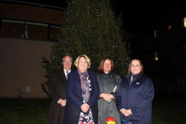 Robert McCulloch-Graham, Jackie Brand, Jane Davidson and Claire Grieve at last year's Tree of Light.