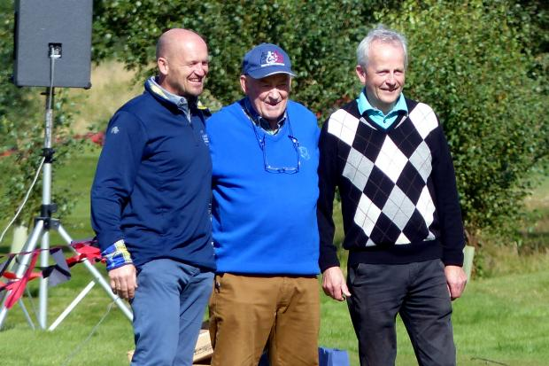 Noel joined Gregor Townsend during this year's fundraiser for the My Name5 Doddie Trust