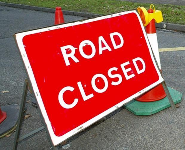 The road will be closed each day between 9.30am and 3.30pm.