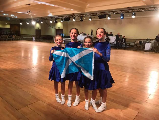 Olivia (second from left) and her world championship teammates in Dublin last year. Photo: Dance2inspire