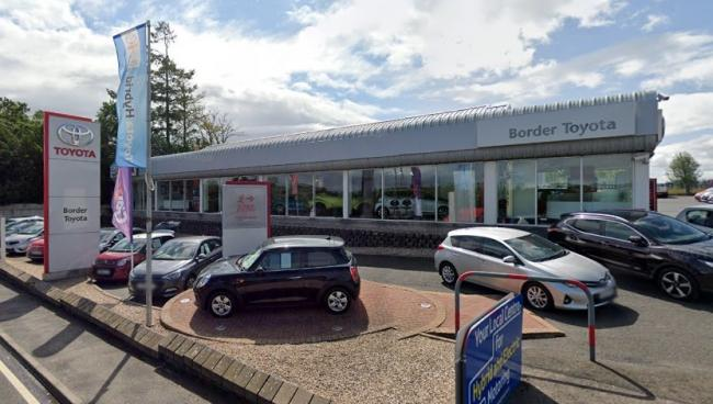 Border Toyota car showroom on the A68 at St Boswells. Photo: Google Maps