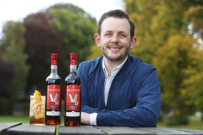 Dominic Tait, from St Boswells, who has won an international prize alongside his brother David for their vermouth product. Photo: Helen Barrington