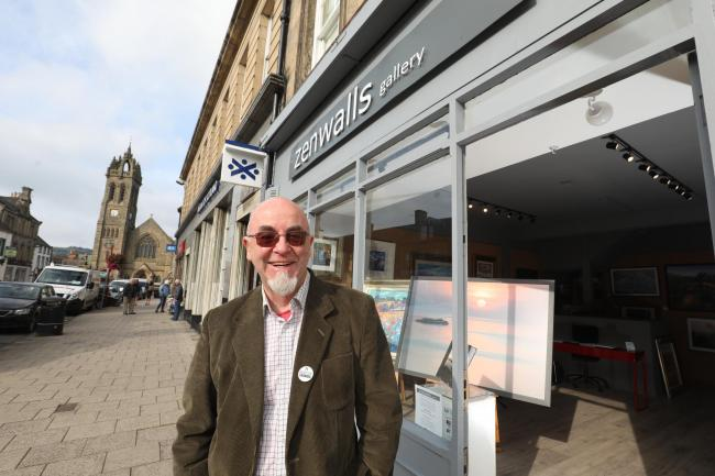 Thom McCarthy, the co-owner of Zenwalls Gallery in Peebles. Photo: Helen Barrington