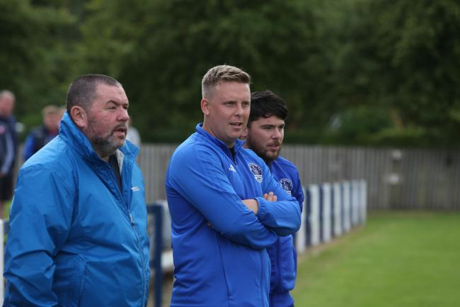 Vale of Leithen coaching staff: John Brogan, Chris Anderson and Ger Rossi