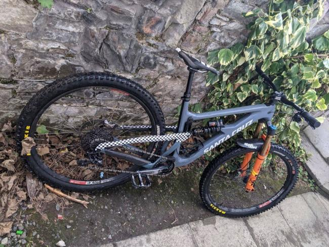 One of the bikes has orange Fox Forks. Photos: Police Scotland