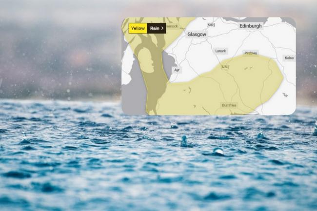 The Met Office has issued warnings for heavy rain