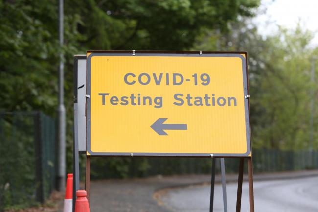 The COVID-19 testing station at Netherdale, Galashiels. Photo: Helen Barrington