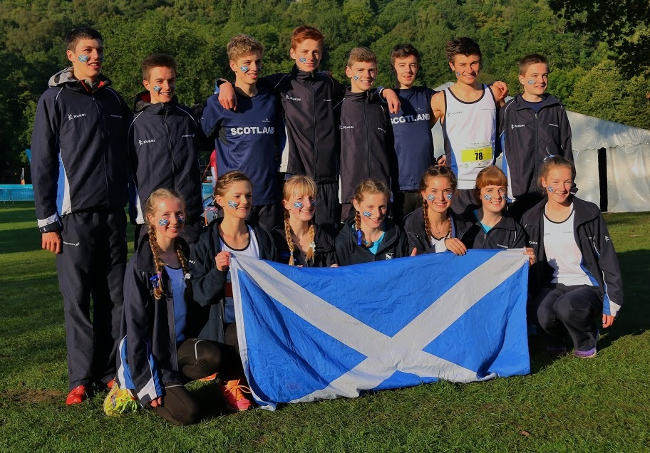 The medal-winning Scotland teams.