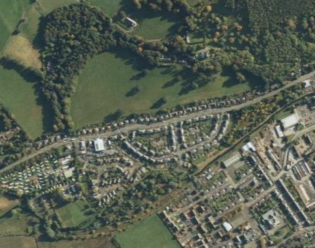 Peebles Residents Invited To Air Views On Development Proposals - Google maps aerial view