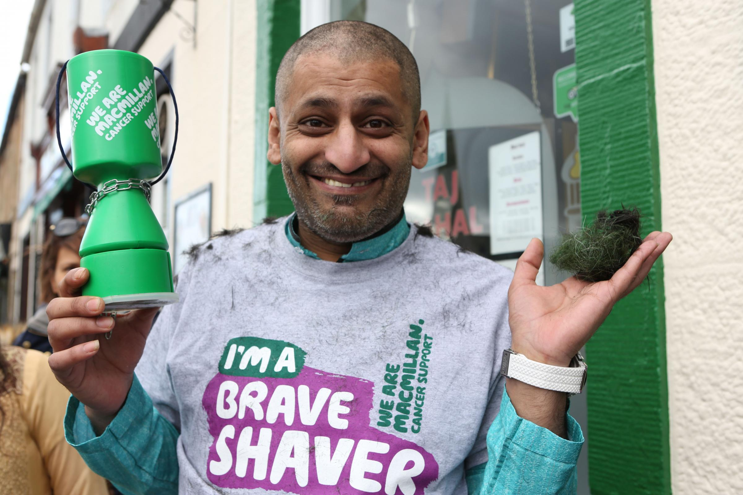 Abed braving the shave at the Biggar Day Out. Photo: Helen Barrington