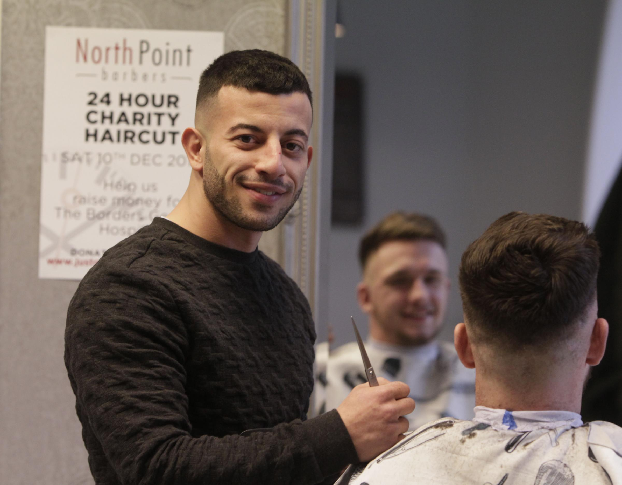Peebles Barber Takes On 24 Hour Charity Haircut Challenge For Bgh