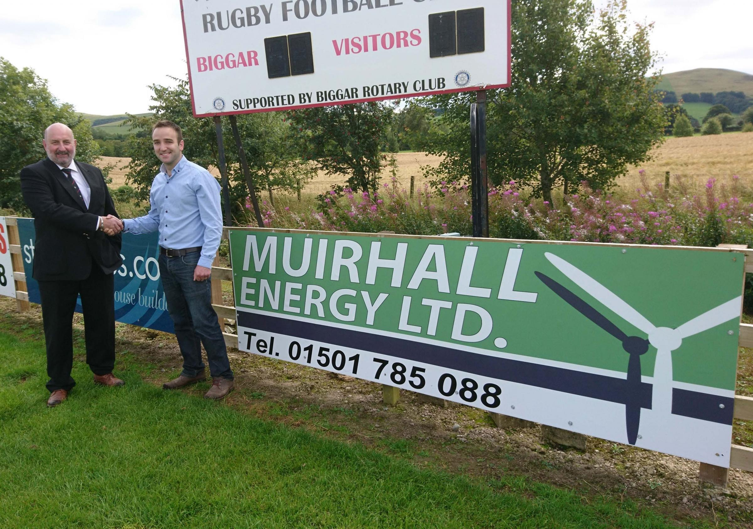 Peter Marshall, Muirhall Energy and Peter McDonald, Biggar Rugby Club