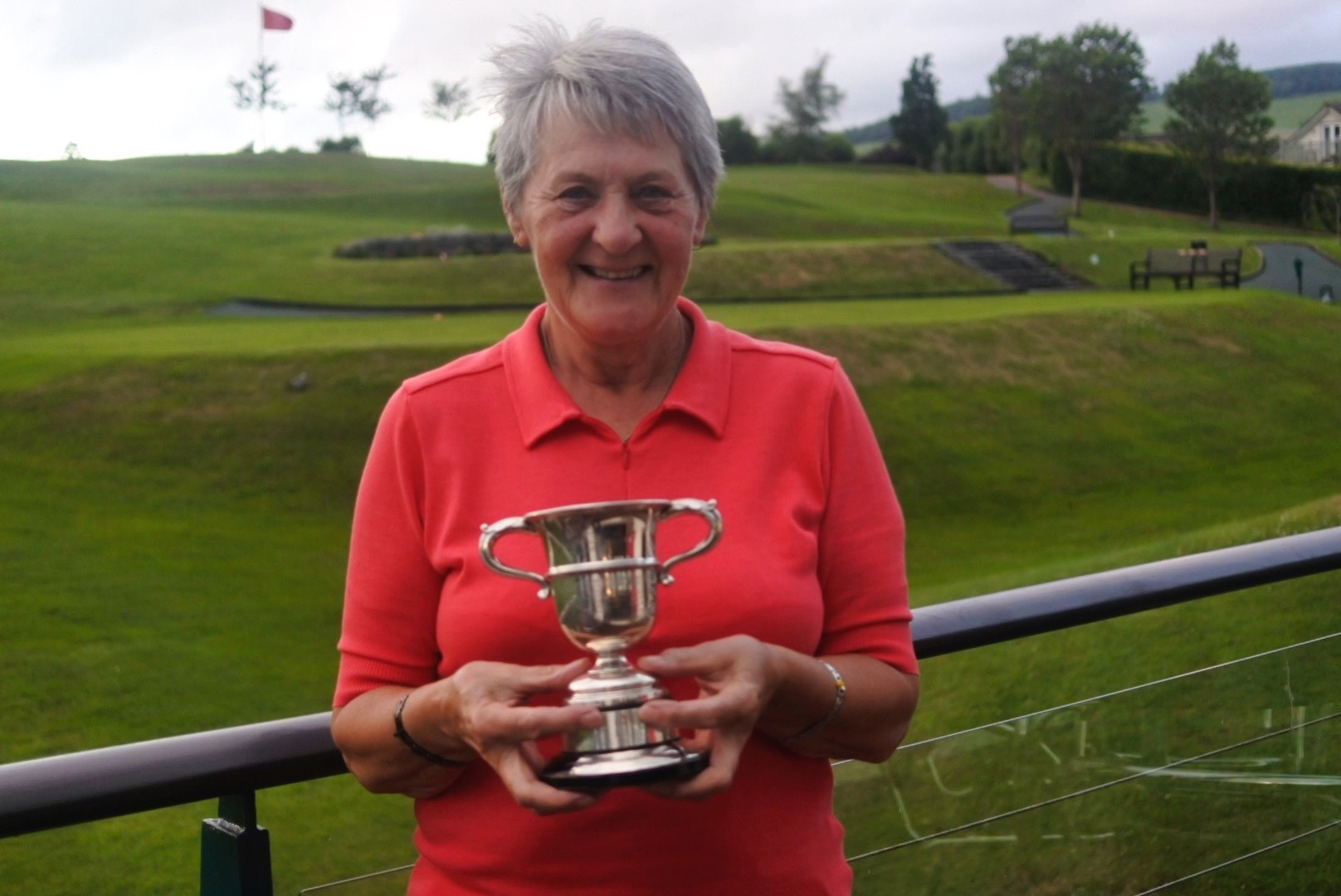 Sheila Cuthbertson was honoured by Peebles Golf Club