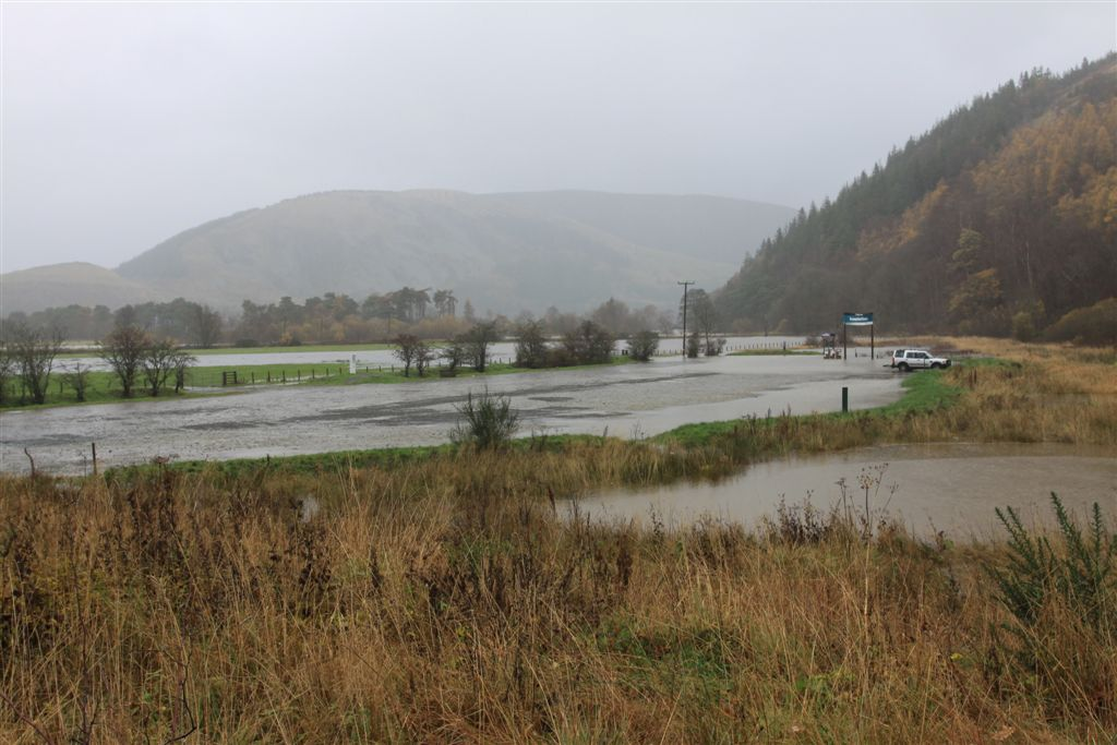 Innerleithen was hit by heavy flooding after torrential rain battered the region in November 2009. (Archive photo)