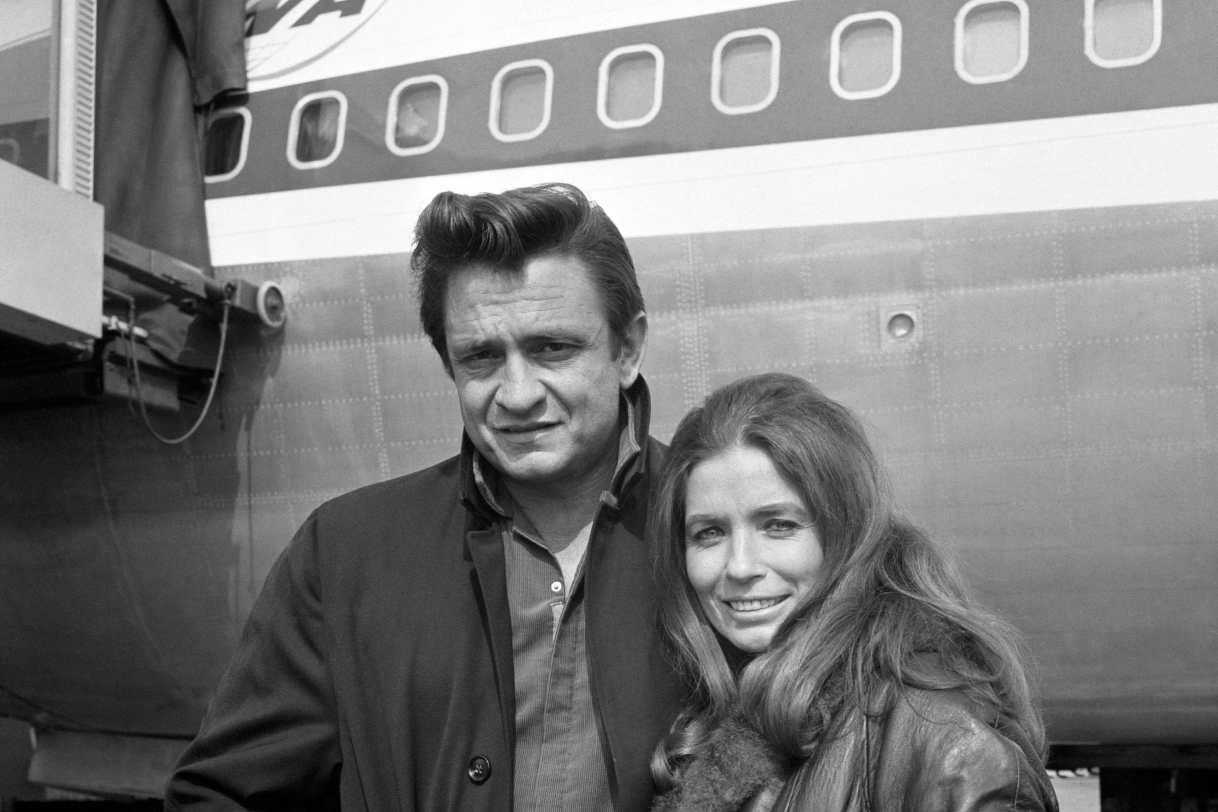 Johnny Cash with June Carter Cash (PA Archive)