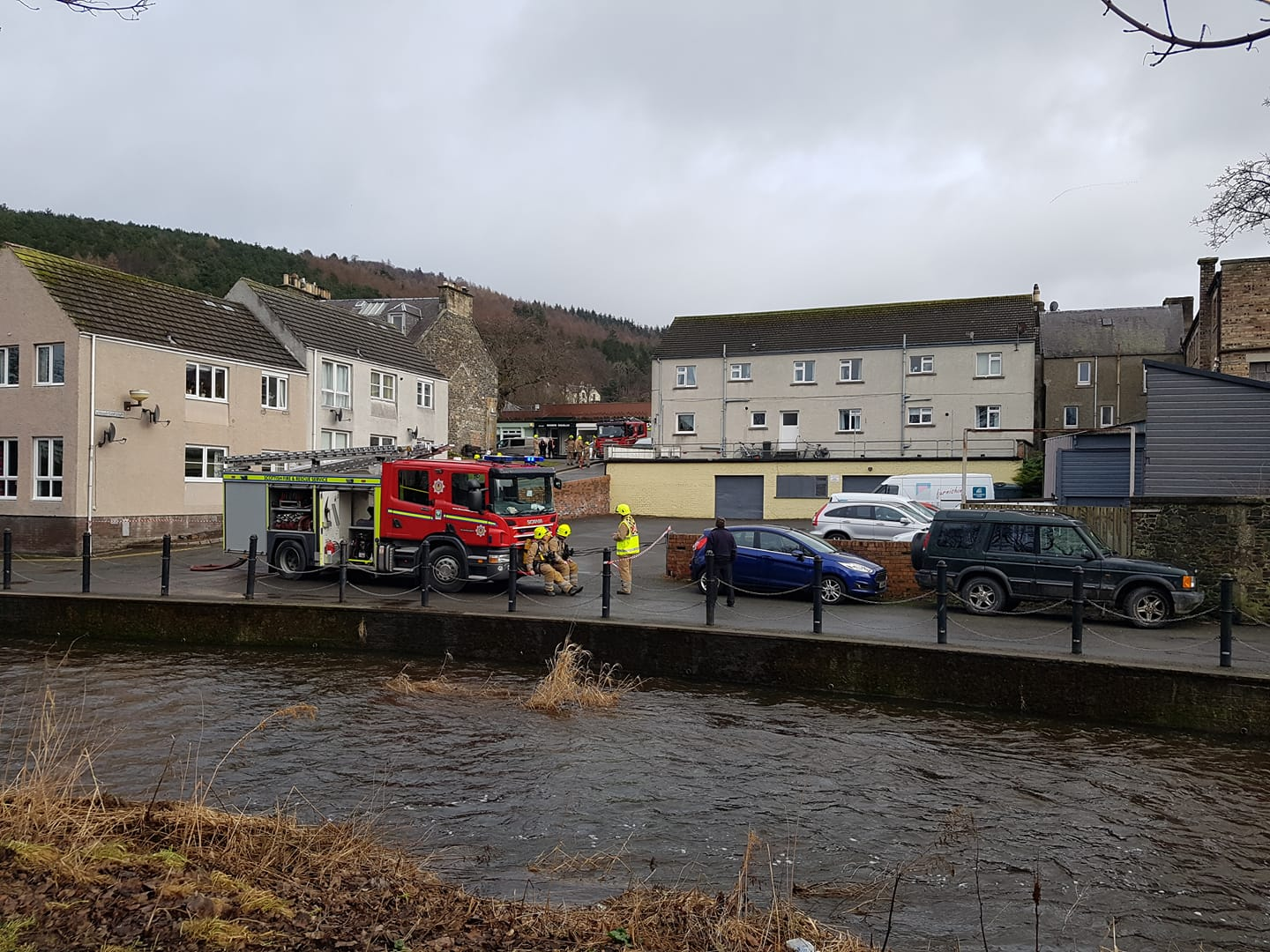 Fire crews have rushed to the Northgate area of Peebles this lunchtime. Photo: Scott Rae