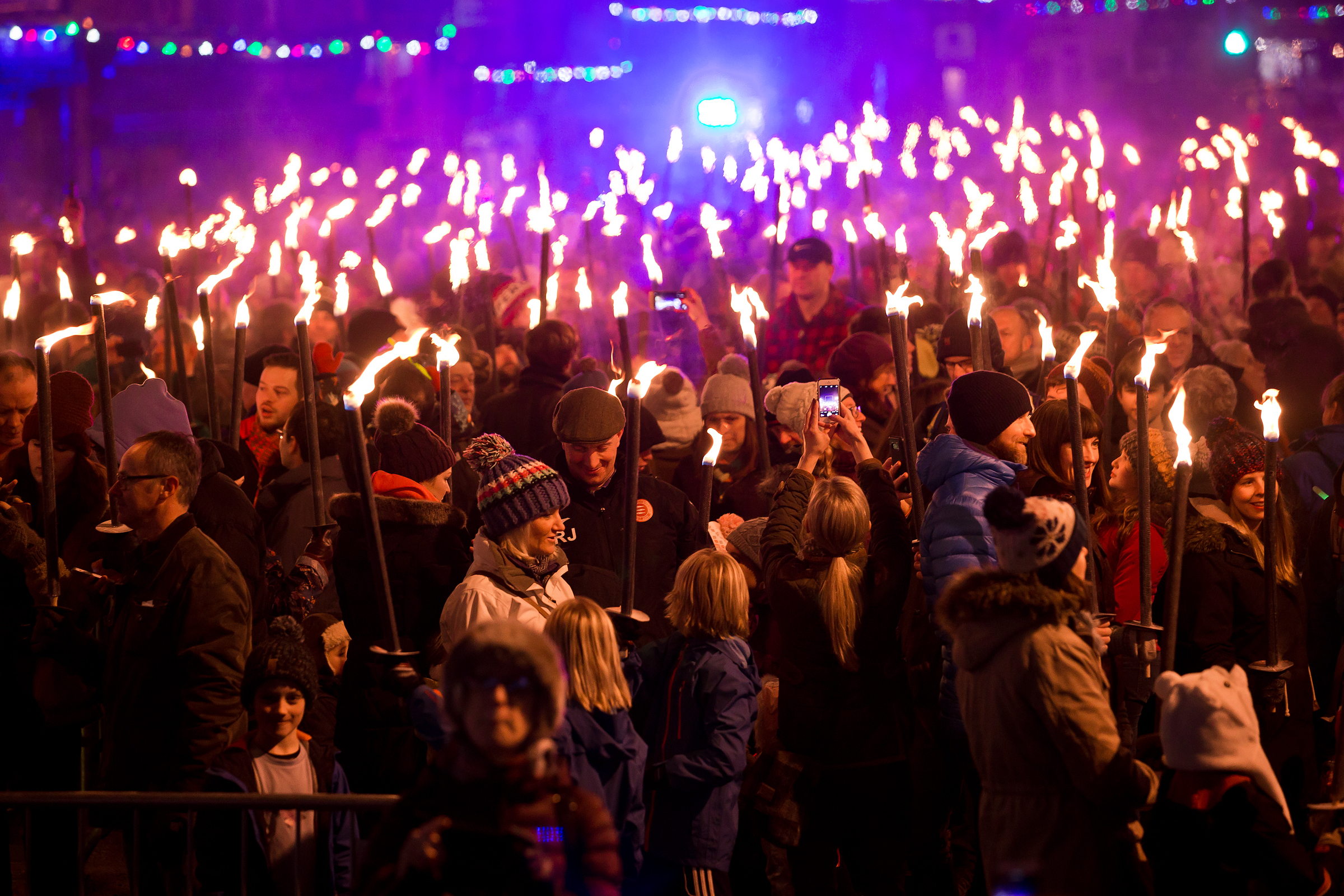 Money from the Torchlight Procession will be split between three charities. Photo: Ian Linton