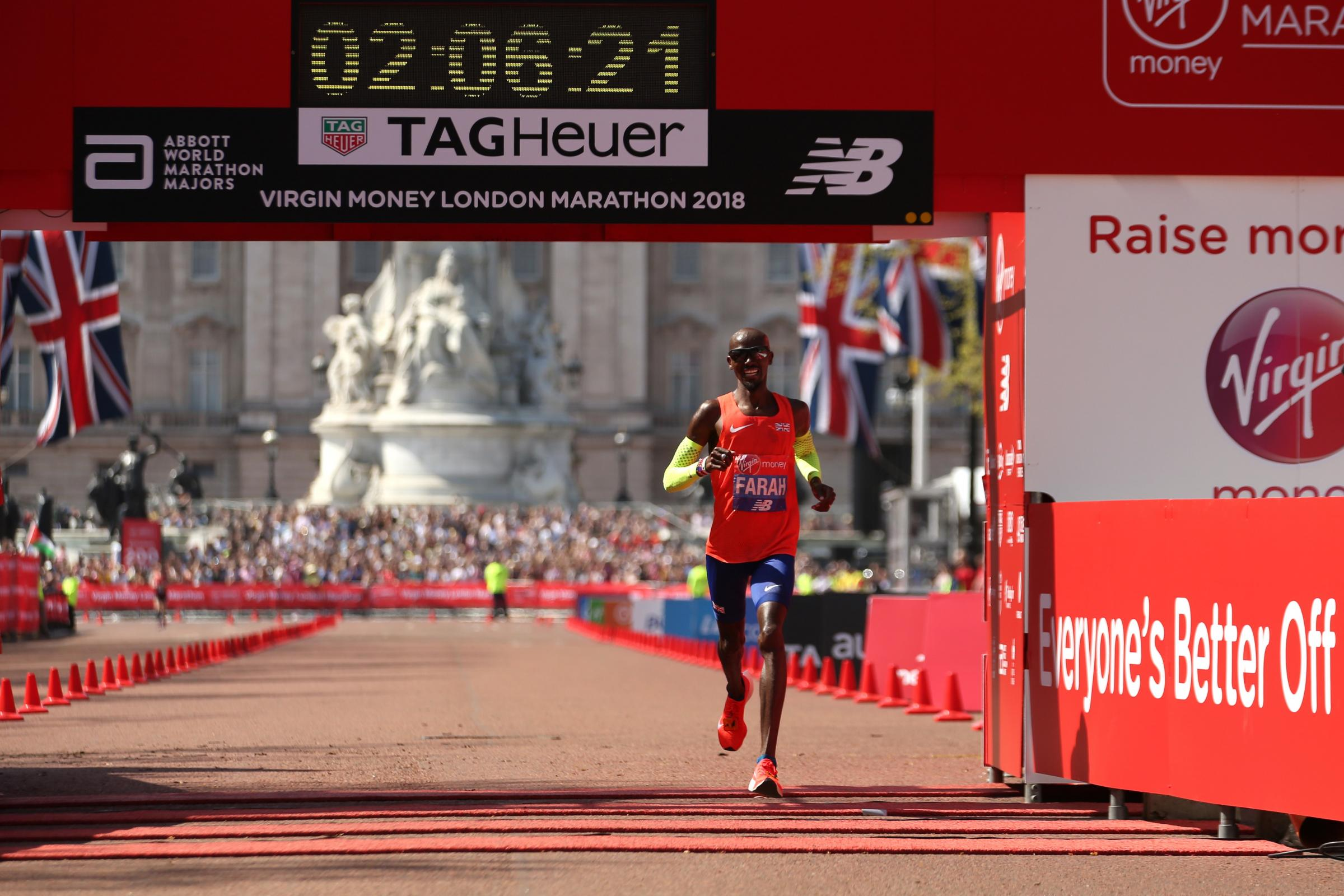 Sir Mo Farah breaks British record with third-place London Marathon finish