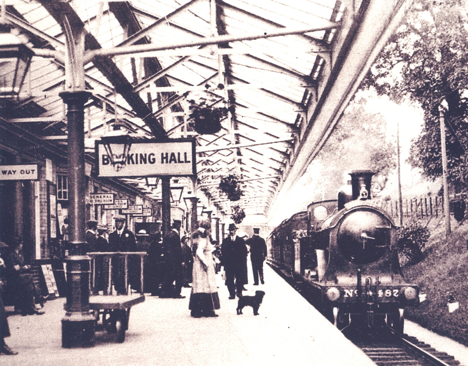 The railway first brought holidaymakers to Peebles in 1860