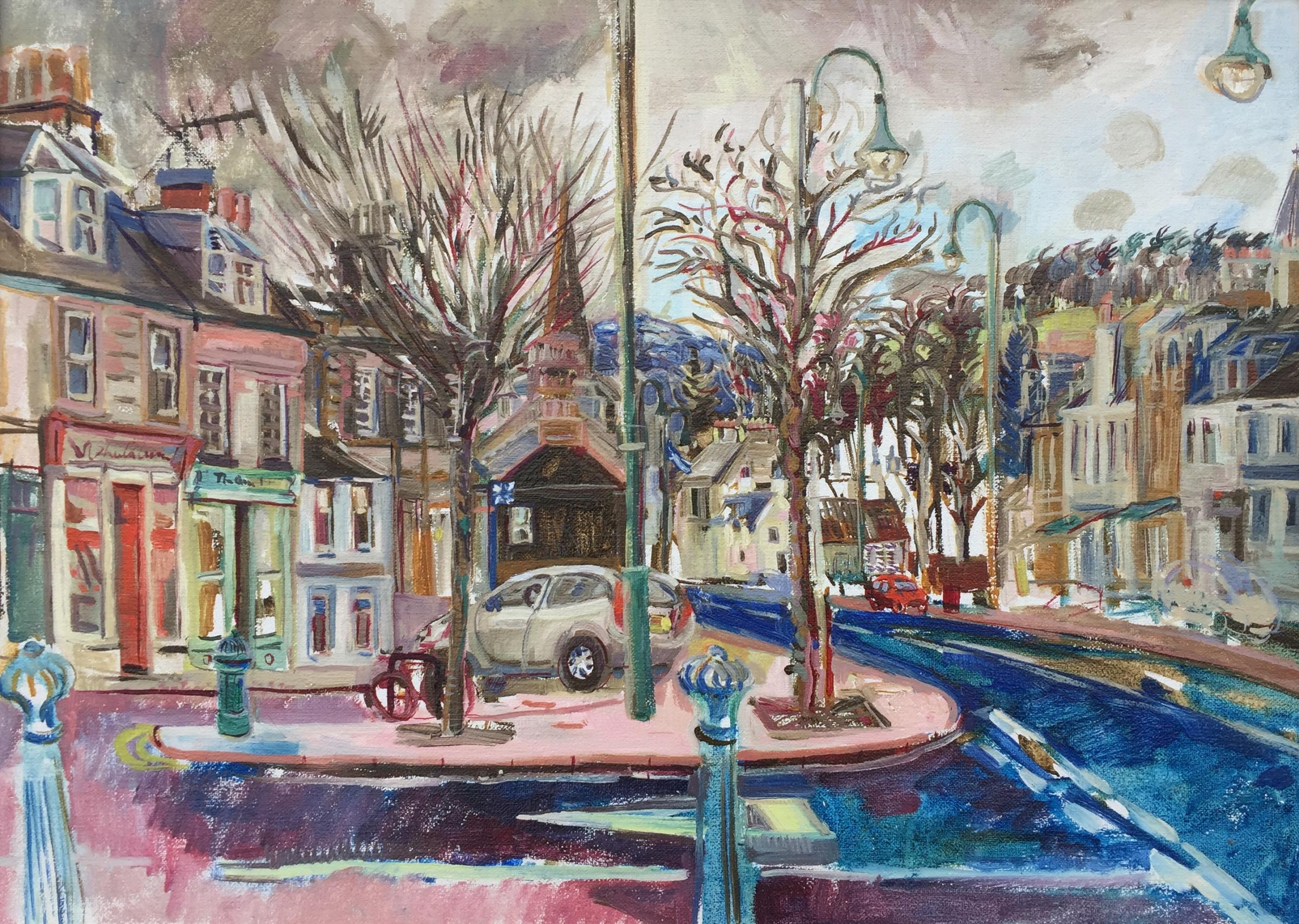 Biggar High Street by Phoebe Cope
