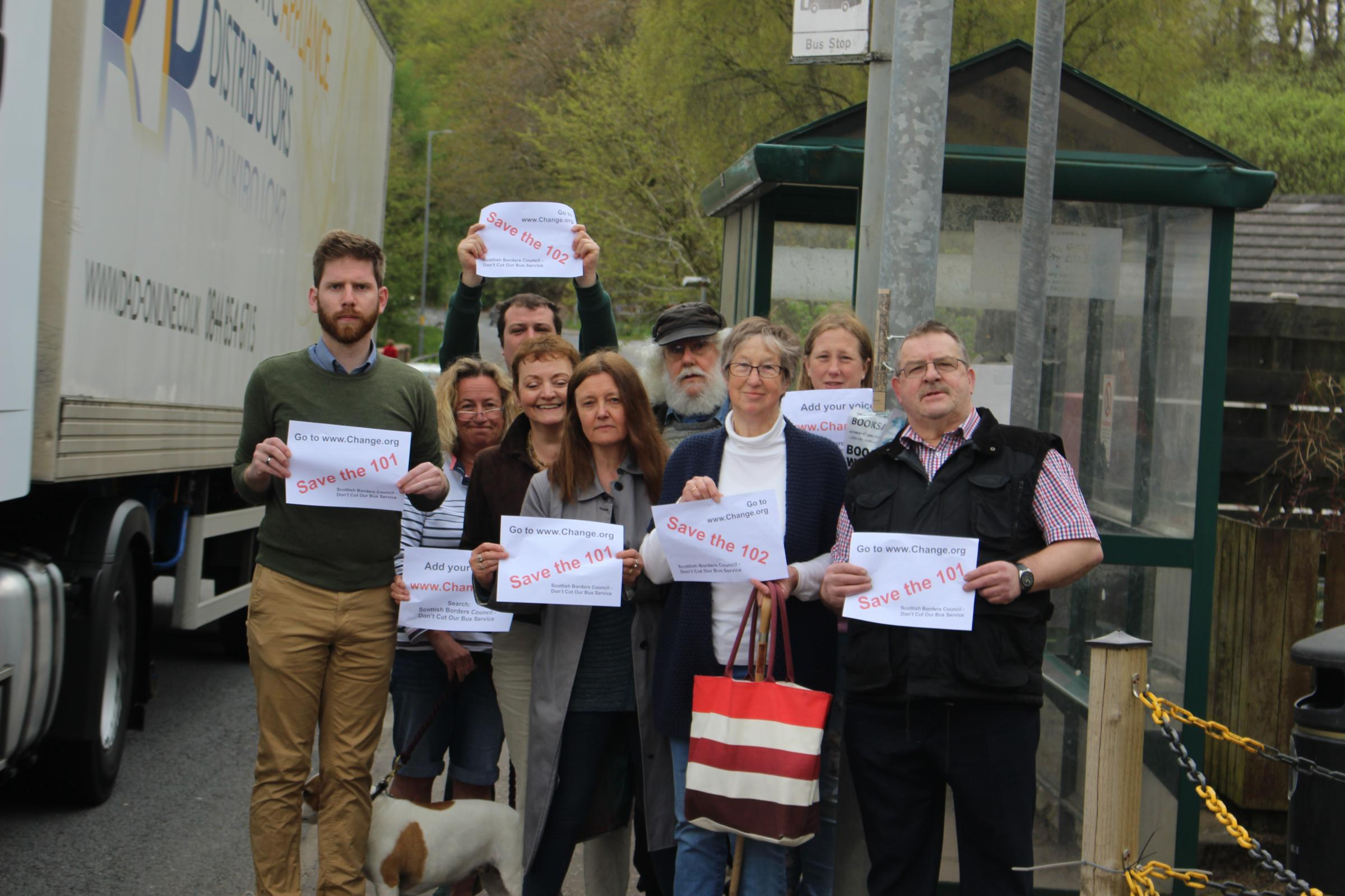 Councillors Chapman, Anderson and Small with campaigners this week