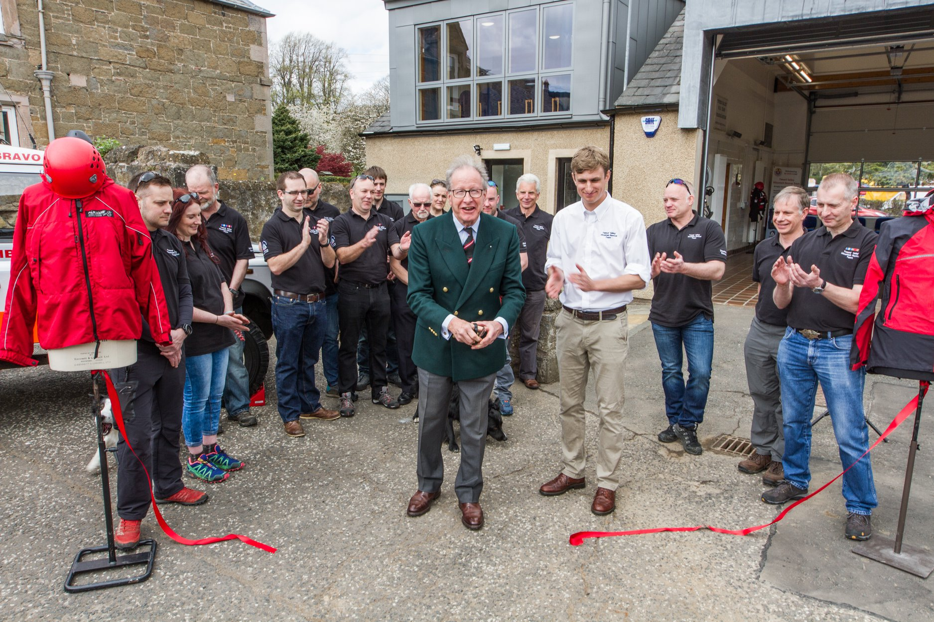 Major General Mark J Strudwick CBE cuts the ribbon. Photo: Jason Baxter