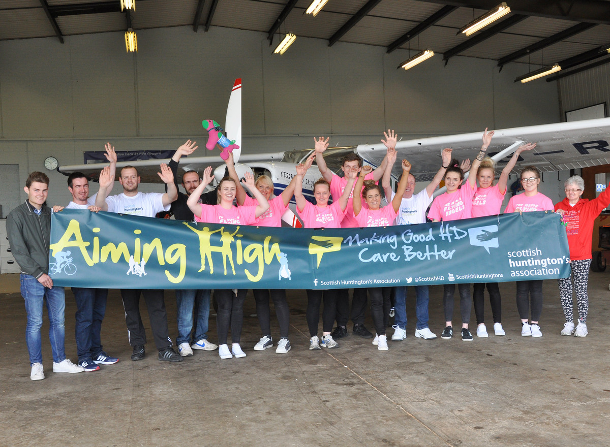 The Scottish Huntington's Association (SHA) is on the lookout for daredevils in the Borders to take part in a charity sky dive next month