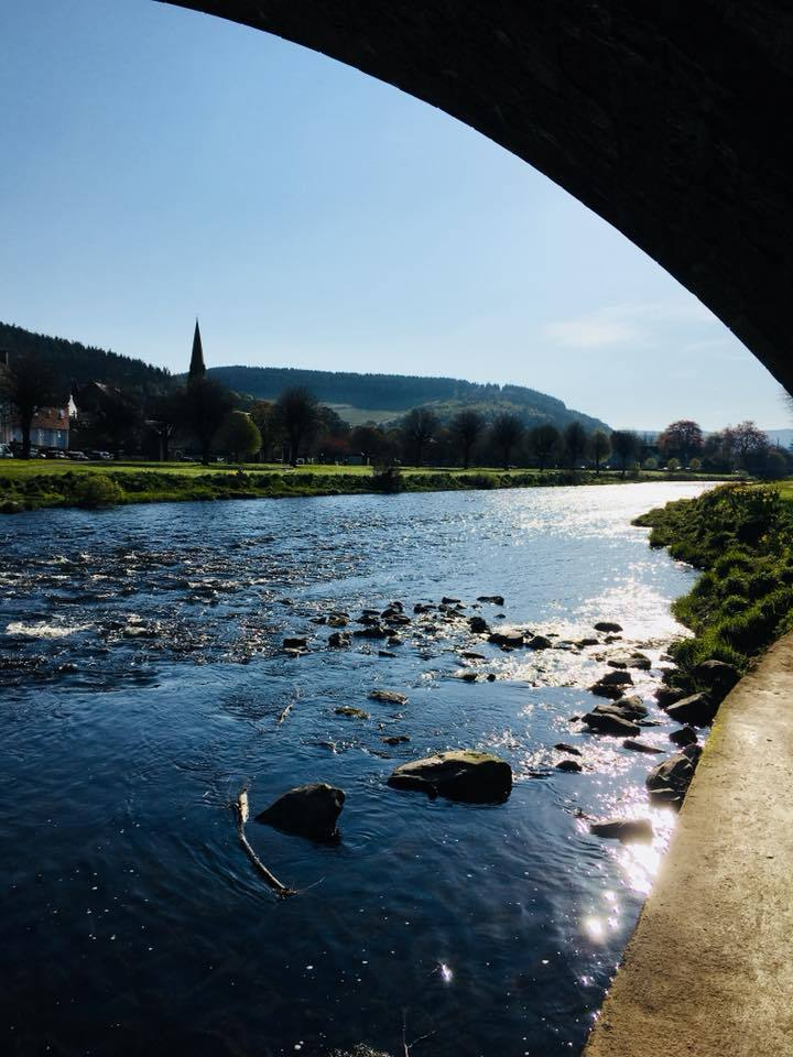 The River Tweed at Peebles taken by reader Leyla Cockburn