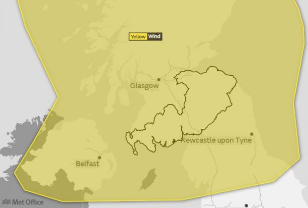 Peeblesshire News: Photo credit: Met Office