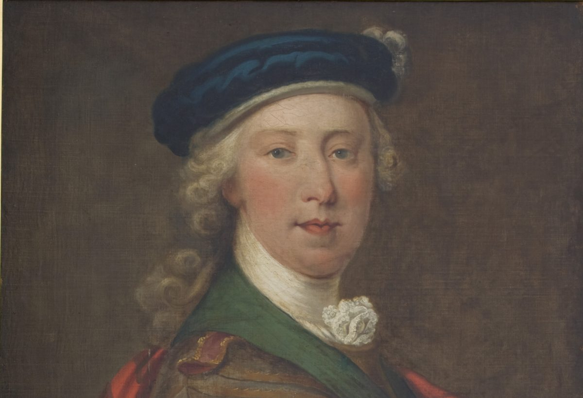 A depiction of Bonnie Prince Charlie