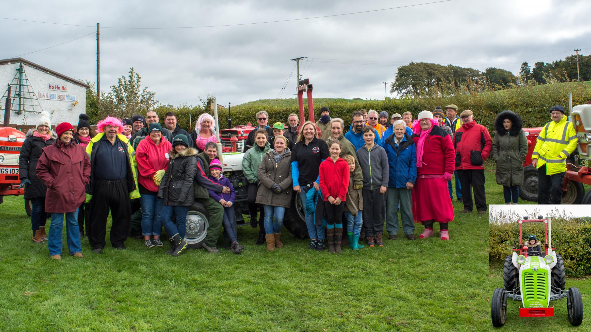 The Tractor Run on September 29 in aid of Breast Cancer Now Scotland and Macmillan Cancer Support