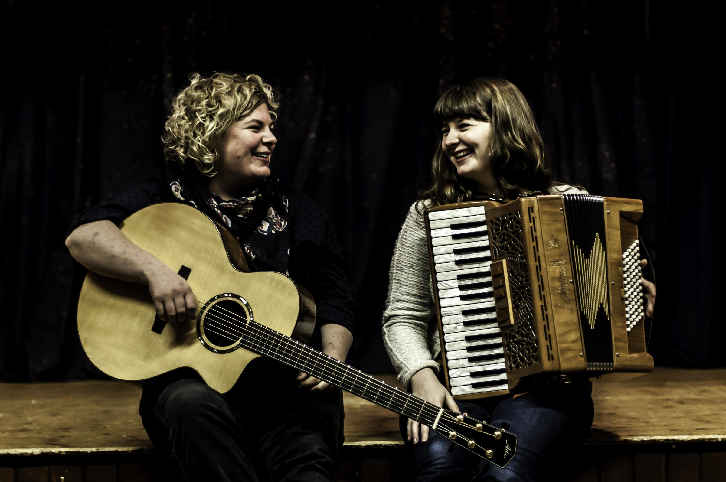 Folk duo Mairearad Green and Anna Massie