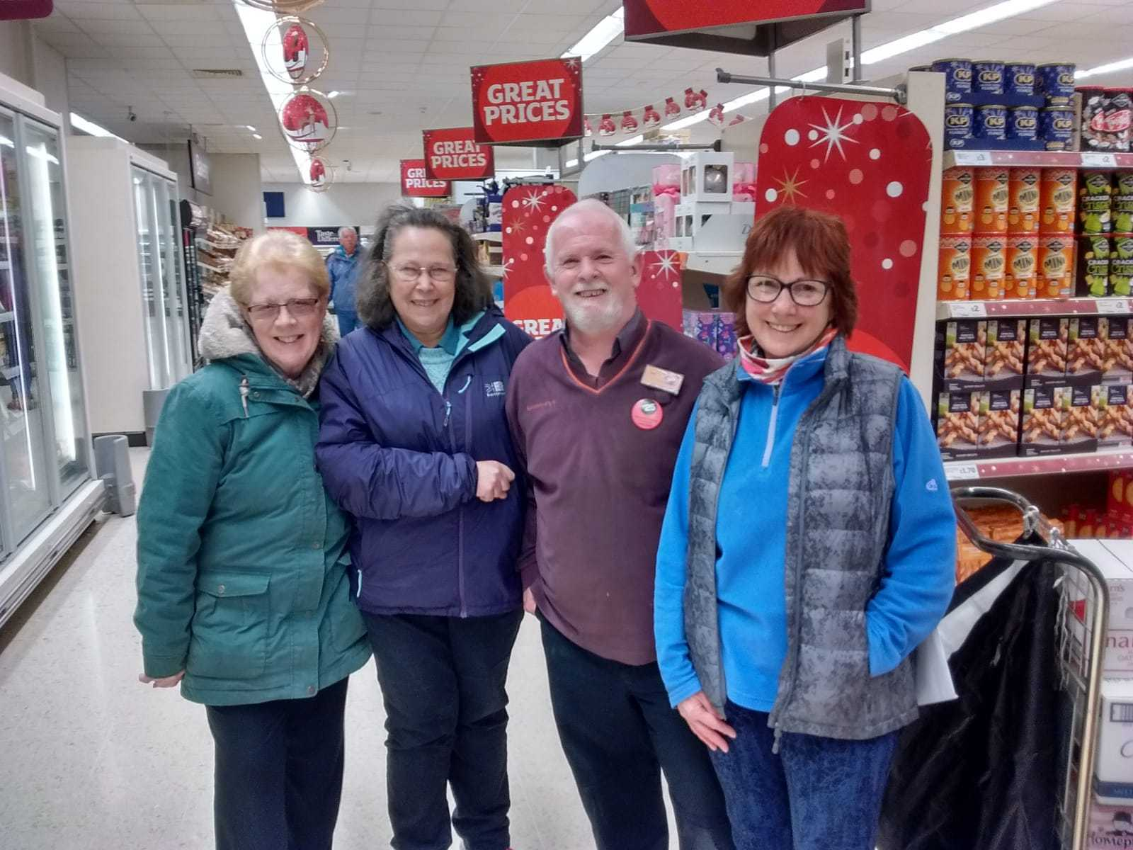 Alison Pearson, Mandy Clydesdale, Les Bowers and Jennifer Swan.