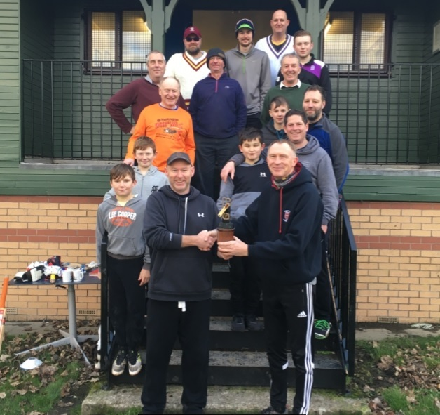 The Aussies won the New Year match at Whitestone Park