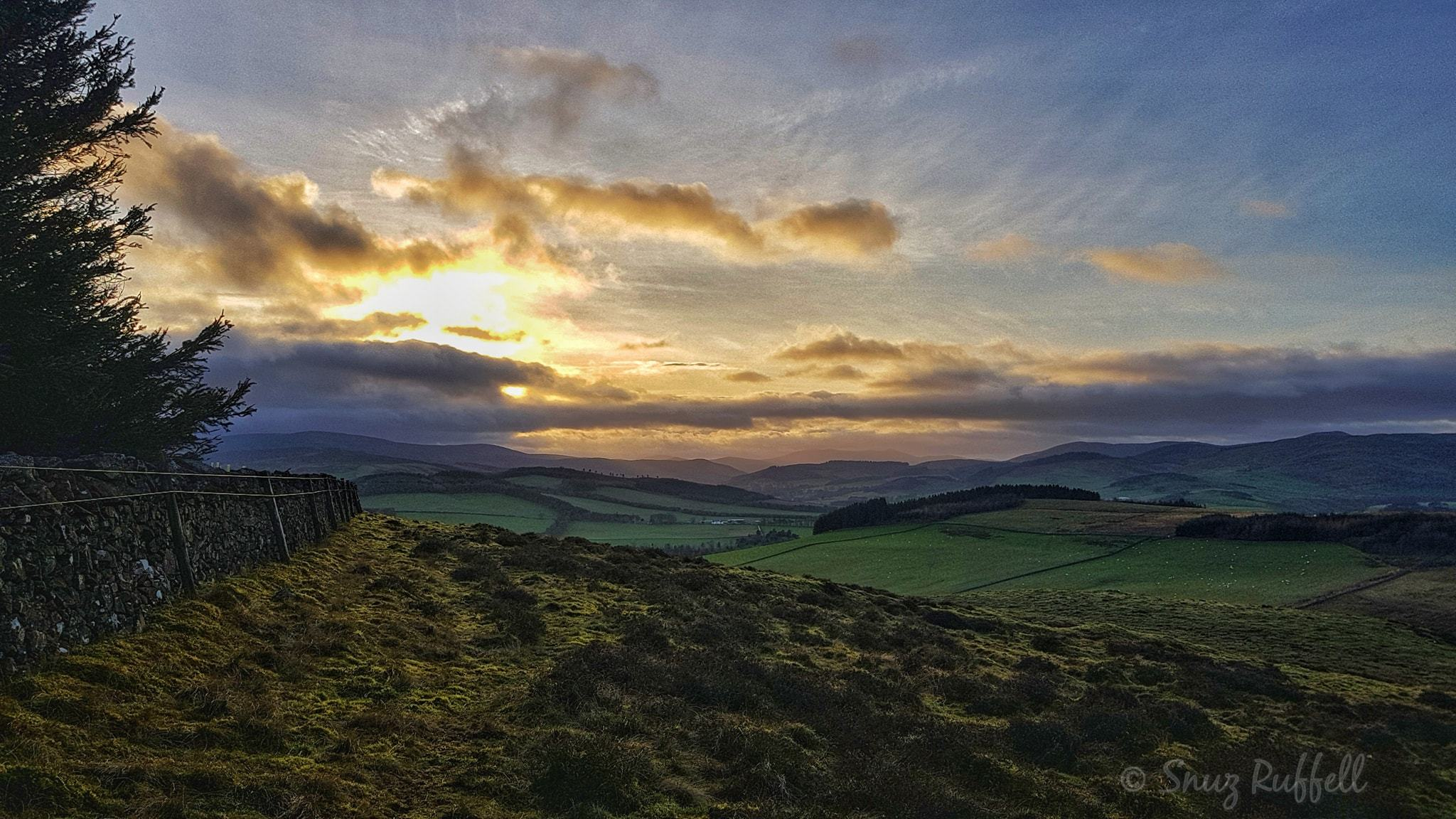"This photo was posted by Peeblesshire News Camera Club member Snuz Ruffell, who added: ""Taken at from my walk up Jedderfield Plantation today, looking over towards Manor. Beautiful winter sun colours."" Send us your readers' photos by ema"