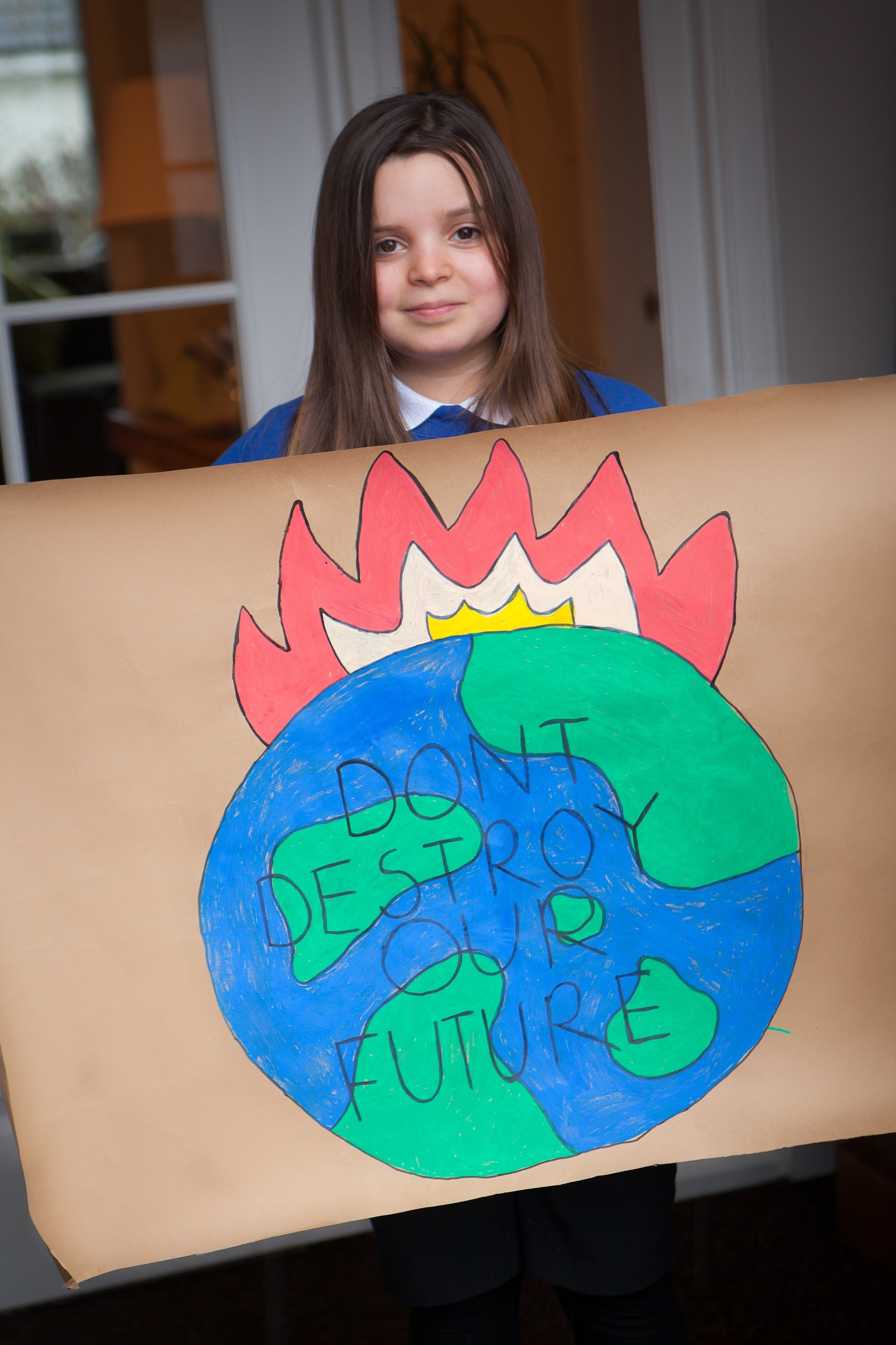 Kyra Burnett-Godfree is leading the climate change protest. Photo: Libby Munachen