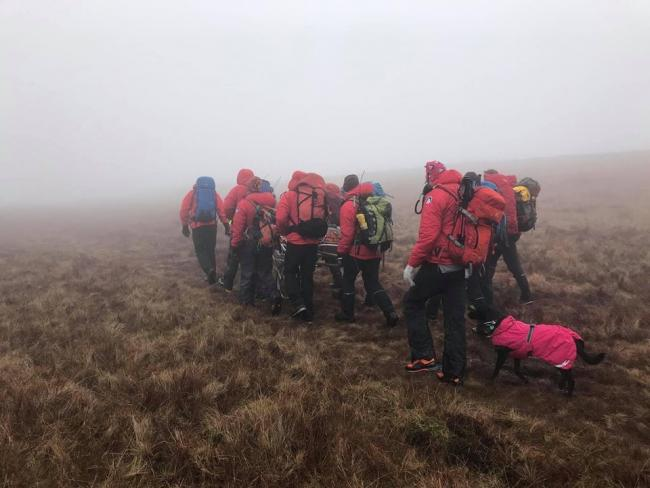 Mountain rescue teams were involved in the search