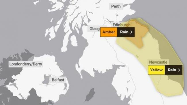Amber weather alert issued for Thursday